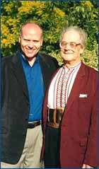 Paul O'Connell with Professor Buteyko at the first international Buteyko Conference in New Zealand, December 2000.